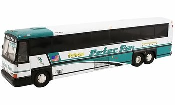 MCI 102 DL3 Coach Model, Peter Pan Trailways - Corgi 98422 - click to enlarge