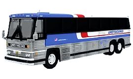 MCI MC-9 Coach Model, Greyhound - Iconic Replicas 87-0228