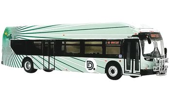 New Flyer Xcelsior Bus Model, Detroit - Iconic Replicas 87-0258 - click to enlarge