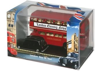 Routemaster London Bus and Taxi Model Set - Oxford LD004 - click to enlarge