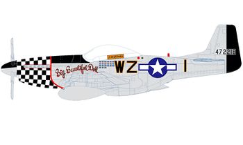 """P-51D Mustang Model, USAAF, """"Big Beautiful Doll"""" - Air Force 1 0149A - click to enlarge"""