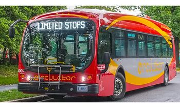 Proterra ZX5 Bus Model, Washington, DC - Iconic Replicas 87-0309 - click to enlarge