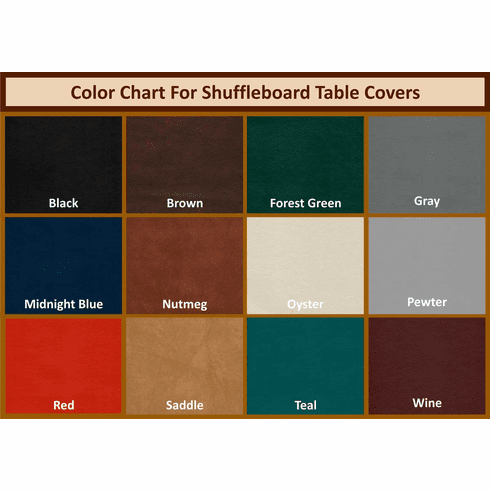 12' Shuffleboard Table Covers