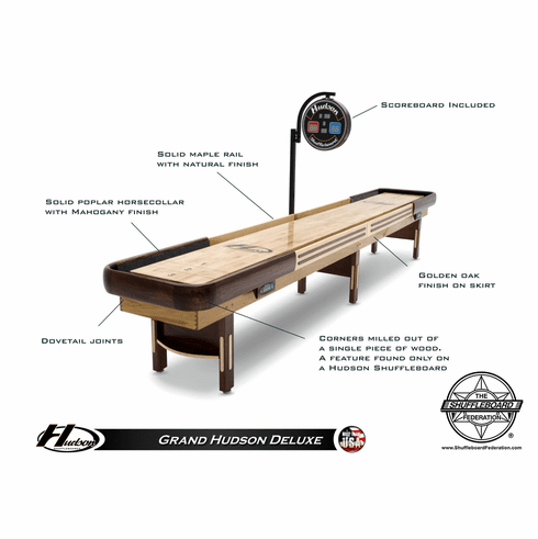 14' Grand Hudson Deluxe Shuffleboard Table