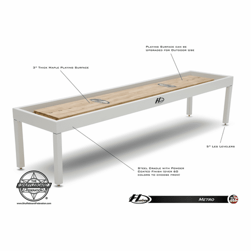 14' Hudson Metro Shuffleboard Table By Hudson Shuffleboards