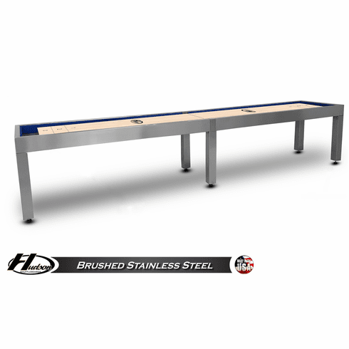 18' Brushed Stainless Steel Hudson Metro Shuffleboard Table