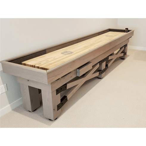 18' Champion Rustic Shuffleboard Table