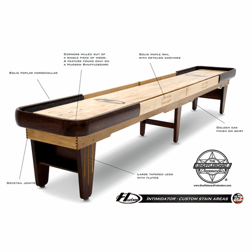 18' Hudson Intimidator Shuffleboard Table
