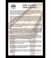 "How To Play Crazy 8's 12"" x 18"" Framed Print"