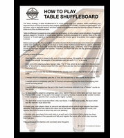 "How To Play Table Shuffleboard 12"" x 18"" Framed Print"