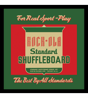 "Play Rock-Ola Shuffleboard 12"" x 12"" or 16"" x 16"" Framed Print"