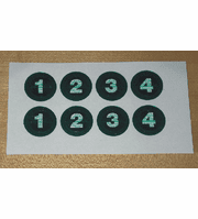 Pro Series Decals For Pro Series Shuffleboard Weights