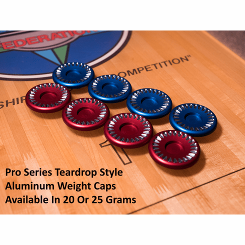 Pro Series Aluminum Weight Caps: 20G or 25G Tear Drop