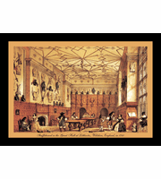 "Shuffleboard In The Great Hall 12"" x 18"" Framed Print"