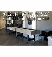Shuffleboard Tables By Size | 9' - 22' Shuffleboards