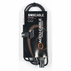 ACCU-CABLE AC3PDMX3 3'-3 Pin DMX Cable