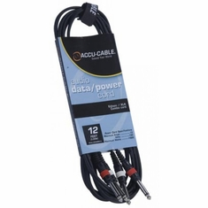 "Accu-Cable DUAL 1/4"" TO 1/4"""