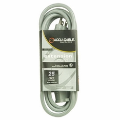 ACCU-CABLE EC-123-25G Gray AC Extension Cord
