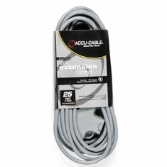 ACCU-CABLE EC-163-3FER25G Gray AC Extension Cord