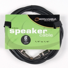 "Accu-Cable SPEAKER CABLES 1/4"" TO 1/4"""