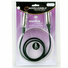 ACCU-CABLE XL-3 XLR Microphone Cable