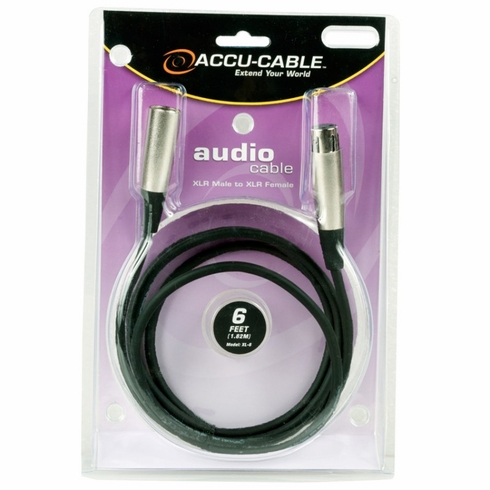 ACCU-CABLE XL-6 XLR Microphone Cable