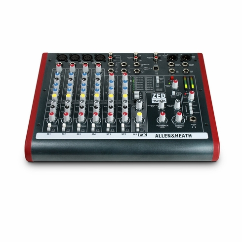 ALLEN & HEATH ZED-10FX 4 Mono Mic/Line + 2 Active D.I. + 3 stereo line inputs, Onboard Effects, USB I/O