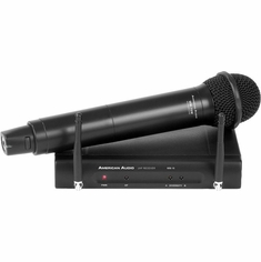 AMERICAN AUDIO WM 16HH - 16 Channel UHF wireless Handheld microphone system. Dual Antenna. XLR outputs, Freq 500-600 MHZ
