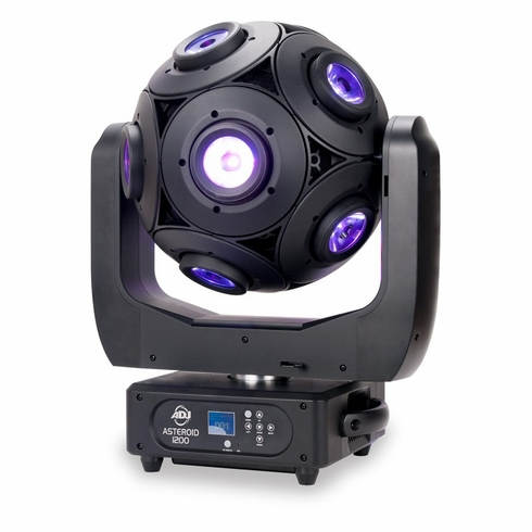 AMERICAN DJ ASTEROID 1200 12 x 15 watt RGBW rotating sphere, continous rotation, dmx, pixel controllable
