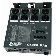 AMERICAN DJ CYBER PAK 4 channel, DMX dimmer/switch pack, individual DMX addressing for each channel, ETL. midi pack and chase controller