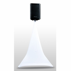 AMERICAN DJ Event Stand Scrim 1W White 1 Sided Speaker stand Scrim, 5 Ft. Comes with bag
