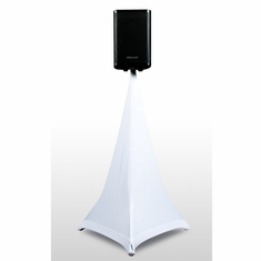 AMERICAN DJ Event Stand Scrim 3W White 3 Sided Speaker stand Scrim, 5 Ft. Comes with bag