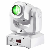 AMERICAN DJ INNO POCKET SPOT PEARL mini Moving Head with a bright white 12W LED source in a white casing