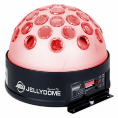 AMERICAN DJ JELLYDOME DMX moonflower dome effect with transparent case.