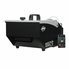 AMERICAN DJ MISTER KOOL II Low-lying fog effect. Uses Kool Fog fluid and ice cubes. Includes timer remote.