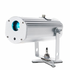 AMERICAN DJ PINPOINT GOBO COLOR Battery powered gobo projector, 10 watt RGBA LED, IR control, inlcudes 4 metal gobos, adjustable focus and beam angle, magnetic base
