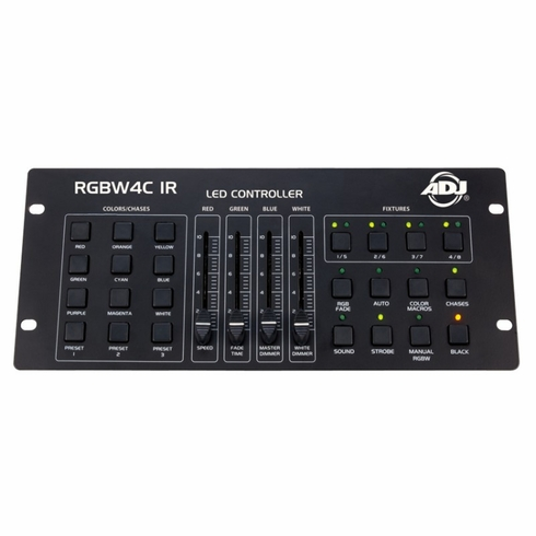 AMERICAN DJ RGBW4C IR Similar to our original RGBW4C 4 controller but now with IR control for use with 4 channel fixtures for RGBW DMX control