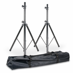 AMERICAN DJ SPSX2B Two universal ACCU STAND speaker stands in a carry bag