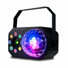 AMERICAN DJ Stinger Star 3-FX-IN-1: LED Moonflower, Color Wash and a red/green Laser