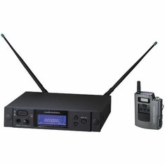 AUDIO-TECHNICA AEW-4110AD 4000 Series Wireless System includes: AEW-R4100 receiver and AEW-T1000a UniPak transmitter, 655.500-680.375 MHz (TV 44-49)