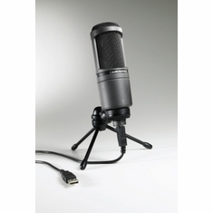 AUDIO-TECHNICA AT2020USB Side-address cardioid condenser microphone with USB digital output. Windows & Mac compatible.