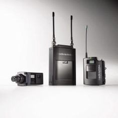 AUDIO-TECHNICA ATW-1823D 1800 Series Dual-channel Wireless System includes: ATW-R1820 dual receiver, one ATW-T1801 UniPak transmitter, one ATW-T1802 plug-on transmitter and one lavalier microphone, 655.500-680.375 (TV 44-49)