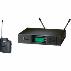 AUDIO-TECHNICA ATW-3110BI 3000 Series Wireless System includes: ATW-R3100b receiver and ATW-T310b UniPak transmitter (TV 16-20)