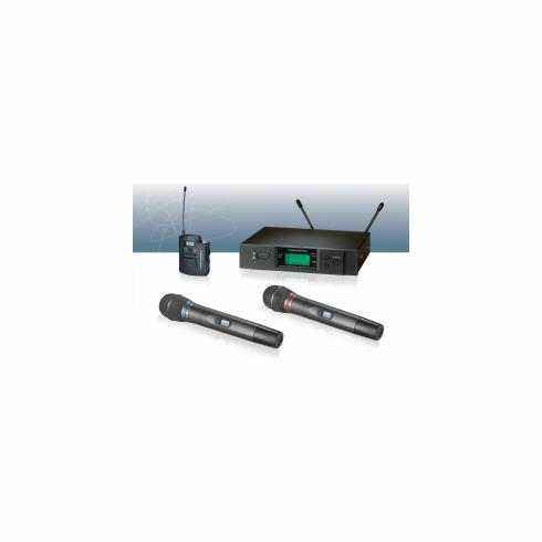 AUDIO-TECHNICA ATW-3171BD 3000 Series Wireless System includes: ATW-R3100b receiver and ATW-T371b handheld cardioid condenser microphone/transmitter (TV 44-49)