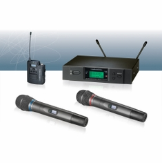AUDIO-TECHNICA ATW-3192BD 3000 Series Wireless System includes: ATW-R3100b receiver and ATW-T310b UniPak transmitter with MicroSet omnidirectional headworn microphone (TV 44-49)
