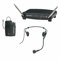 AUDIO-TECHNICA ATW-801/H-T2 System 8 Wireless System includes: ATW-R800 receiver and ATW-T801 UniPak transmitter with PRO 8HEcW headworn microphone, 169.505 MHz