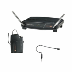 AUDIO-TECHNICA ATW-801/H92-T8 System 8 Wireless System includes: ATW-R800 receiver and ATW-T801 UniPak transmitter with PRO 92cW headworn microphone, 171.905 MHz