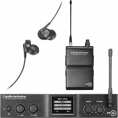 AUDIO-TECHNICA M2M M2 IEM Wireless System includes: M2T stereo transmitter, M2R stereo receiver and EP3 in-ear dynamic headphones , 614.000-647.000 MHz (TV 38-43)
