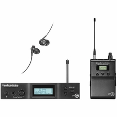 AUDIO-TECHNICA M3L M3 IEM Wireless System includes: M3T stereo transmitter with headphone output, M3R stereo receiver and EP3 in-ear dynamic headphones, 575.000-608.000 MHz (TV 31-36)