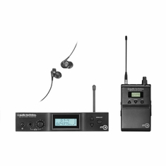 AUDIO-TECHNICA M3M M3 IEM Wireless System includes: M3T stereo transmitter with headphone output, M3R stereo receiver and EP3 in-ear dynamic headphones, 614.000-647.000 MHz (TV 38-43)